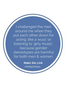 Quote in white text on a blue circle background from Gippsland Women's Health – Make the link