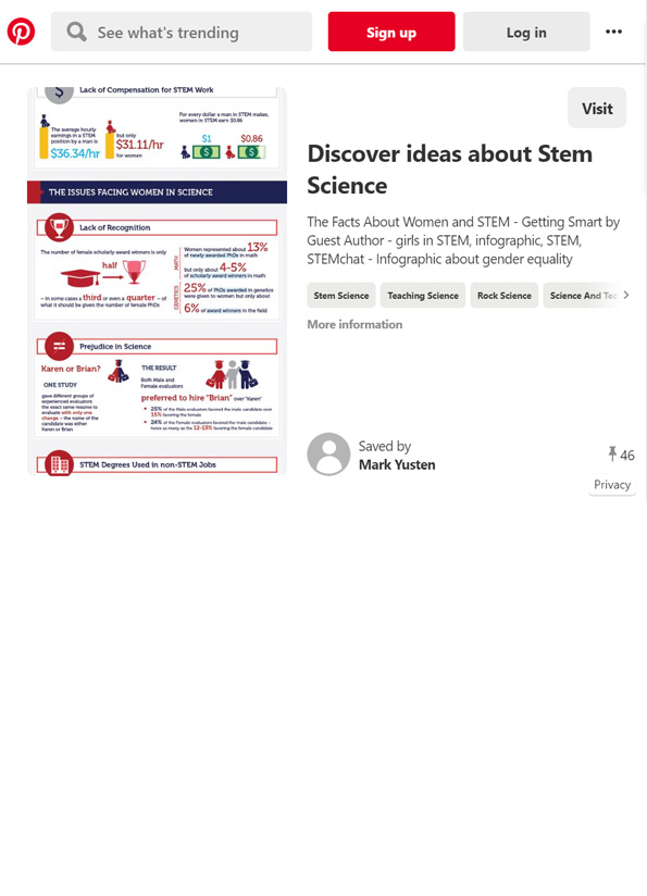 Screenshot of resource, Are stereotypes keeping women away from science?