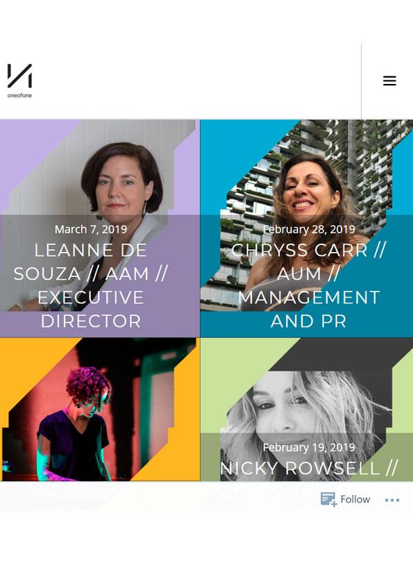 Screenshot of resource website showing four women's portraits