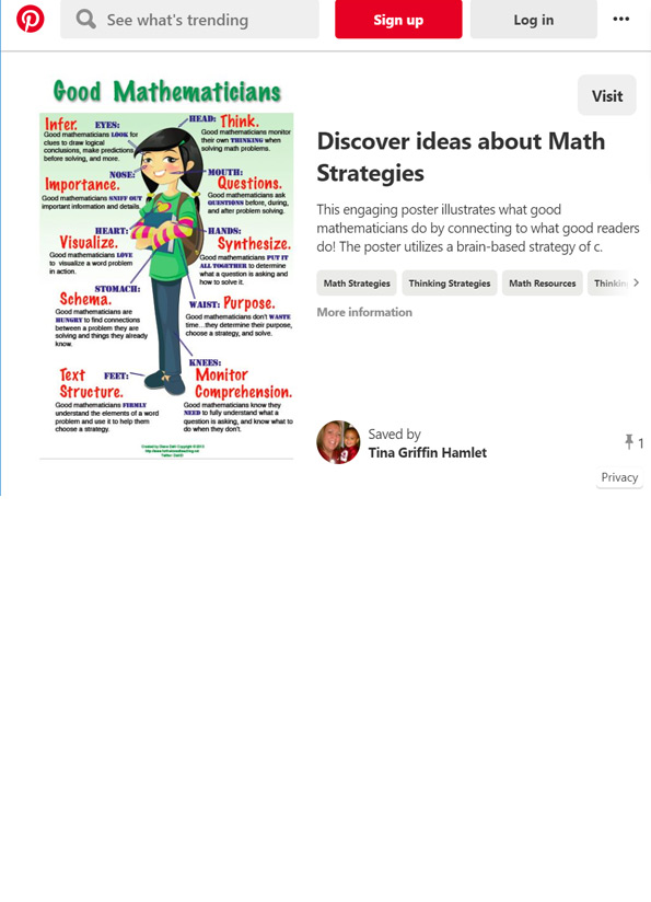 Screenshot of resource showing an image of a poster with a cartoon girl figure with words around her.