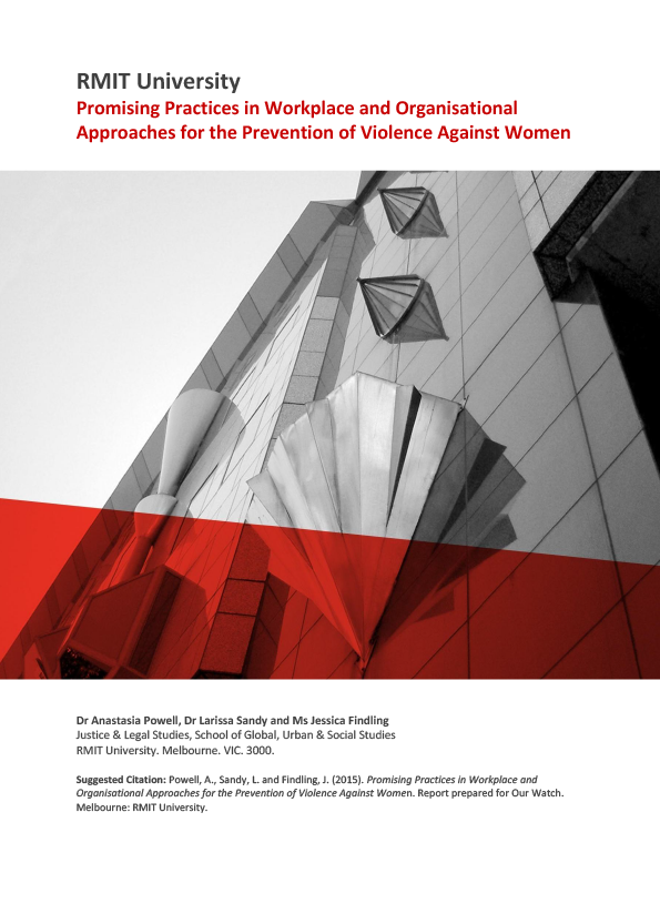 Screenshot of resource cover showing red text on white background and a black and white cropped image of the RMIT building In Melbourne's CBD.