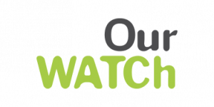 Dark grey and bright green logo with text reading 'Our Watch'